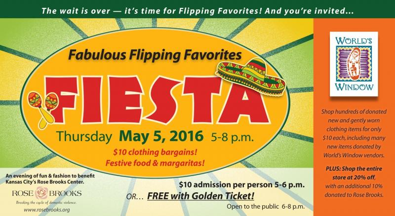 Join us for Fabulous Flipping Favorites Fiesta Benefit for Rose Brooks Center, Thursday, May 5th