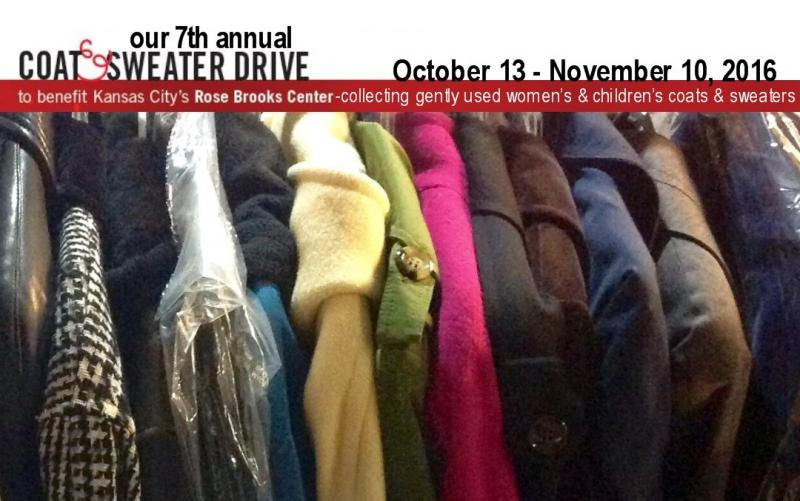 Coat and Sweater Donation Drive Benefit for Rose Brooks Center