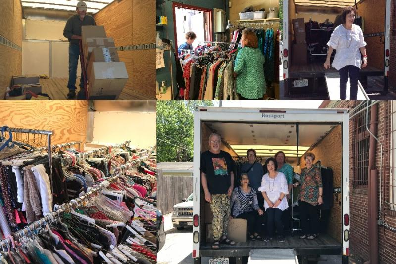 Over one thousand items of clothing went to Rosie's Closet at Rose Brooks Center