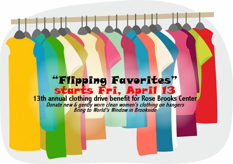 2018 Flipping Favorites Clothing Drive Benefit for Rose Brooks Center Domestic Violence Shelter in Kansas City Missouri