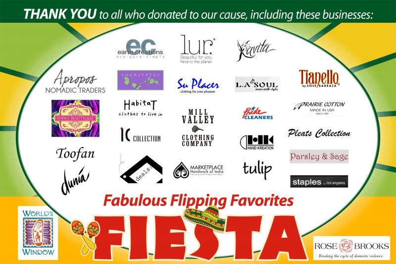 Companies that donated to Flipping Favorites for Rose Brooks Center