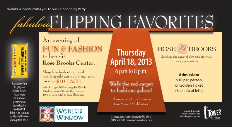Flipping Favorites Clothing Buying Party for Rose Brooks on April 18, 2013