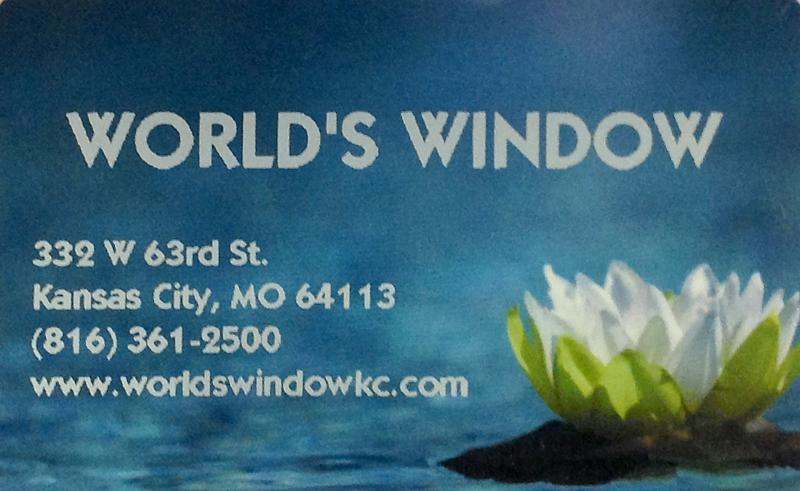 World's Window Gift Card. World's Window, Brookside, Kansas City, Missouri