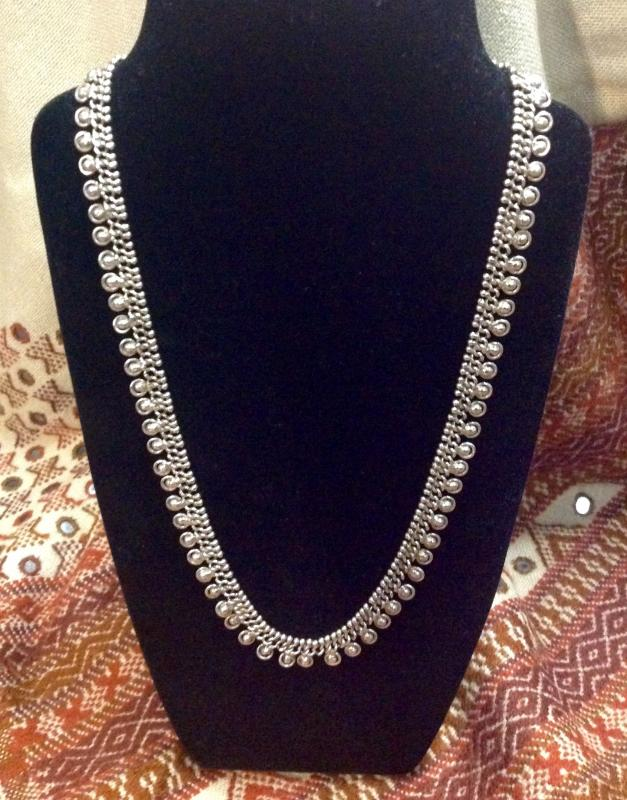 For silent auction - hand-made silver necklace from India