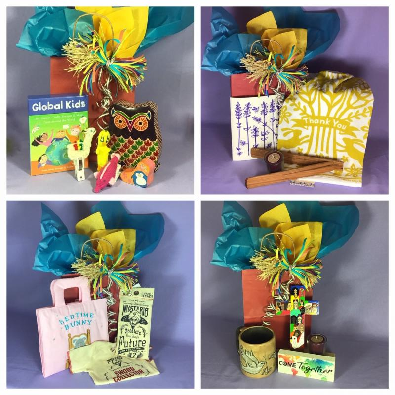 Gift Bag assortments offered during grand opening of on-line store for World's Window in Kansas City Missouri