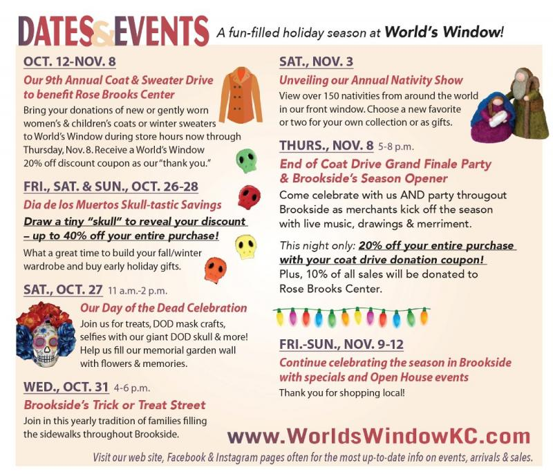 Fall and Winter Events at World's Window in Kansas City, Missouri